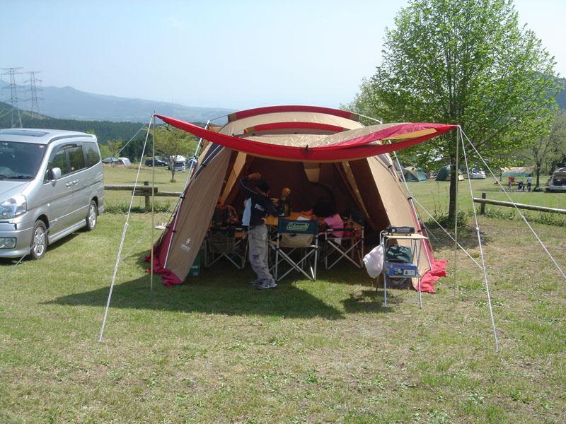 菊池高原ファミリーキャンプ場 リビングシェル