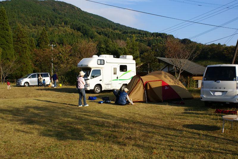吉野山キャンプ場 キャンピングカー