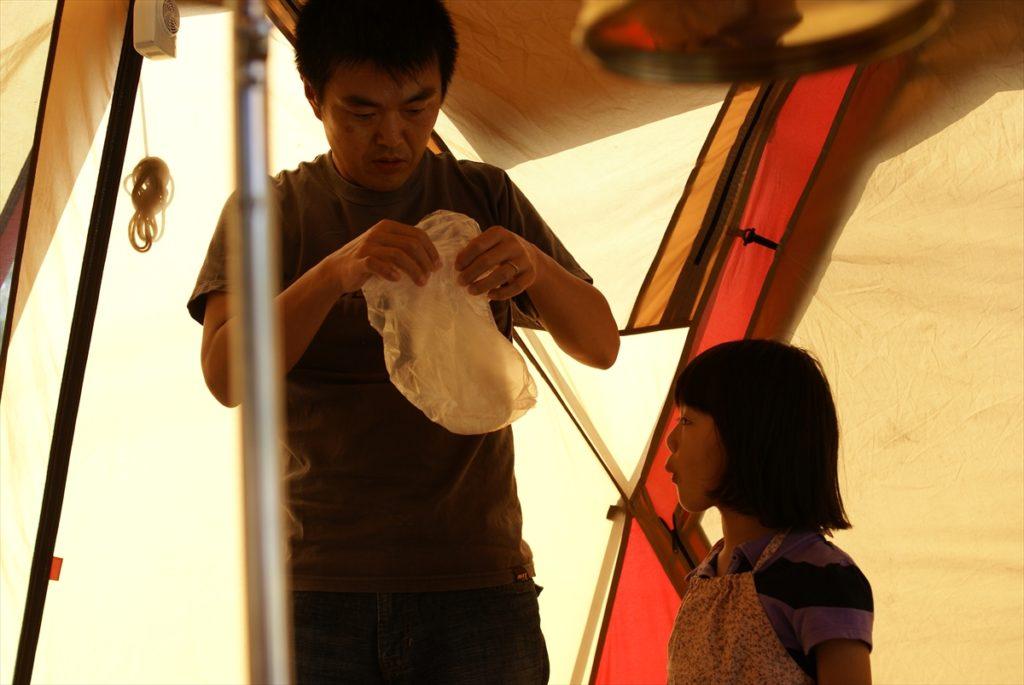 吉野山キャンプ場 うどん教室