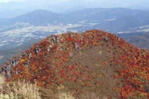 紅葉の三俣山