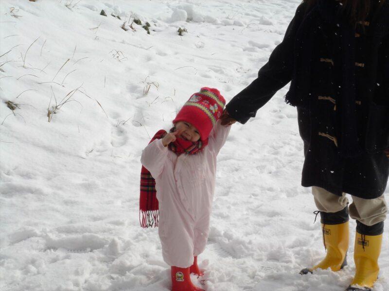基山で雪遊び チカ