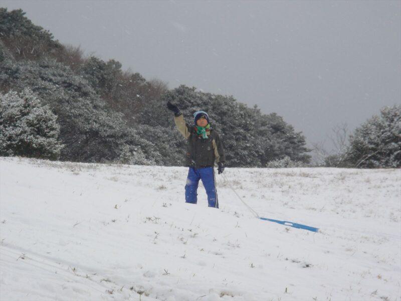 基山で雪遊び ダイキ
