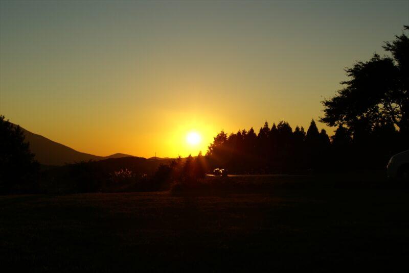 九重山麓風の丘 夕焼け