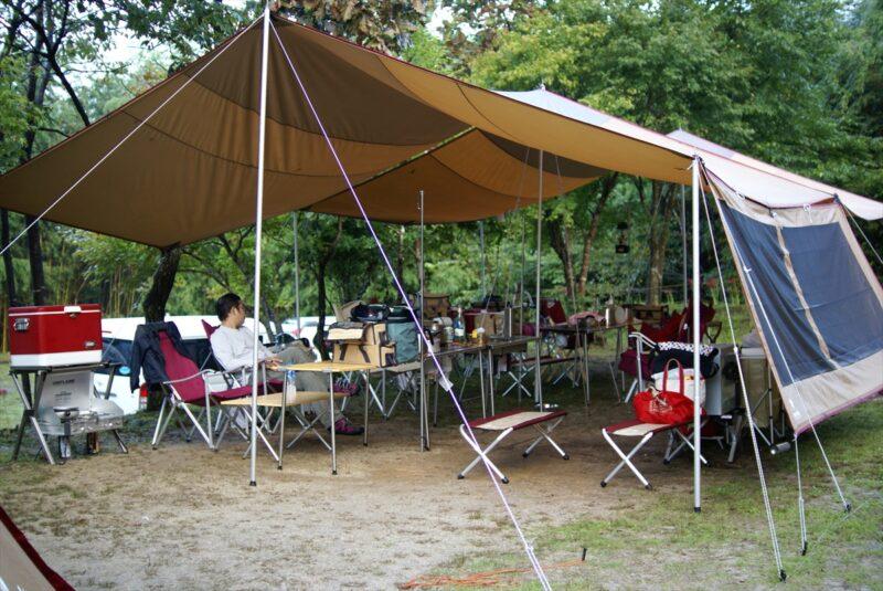 山鳥の森オートキャンプ場 レクタL連結